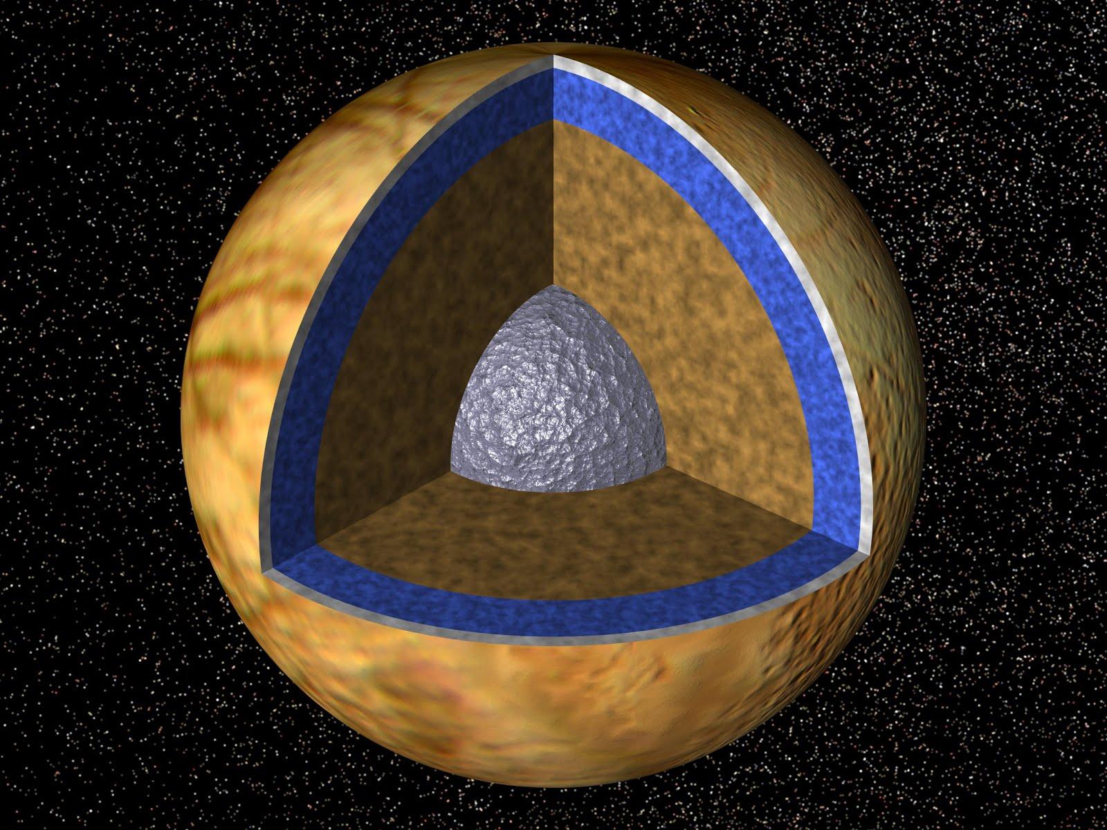 Immagine NASA che rappresenta la sezione del satellite Europa