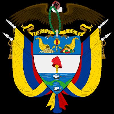 Coat of arms - Flags - Emblem - Logo Gambar Lambang, Simbol, Bendera Negara Kolombia