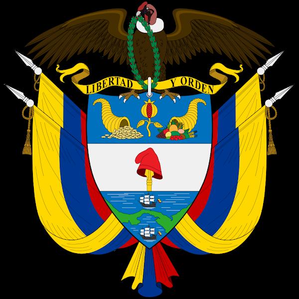 Logo Gambar Lambang Simbol Negara Kolombia PNG JPG ukuran 600 px