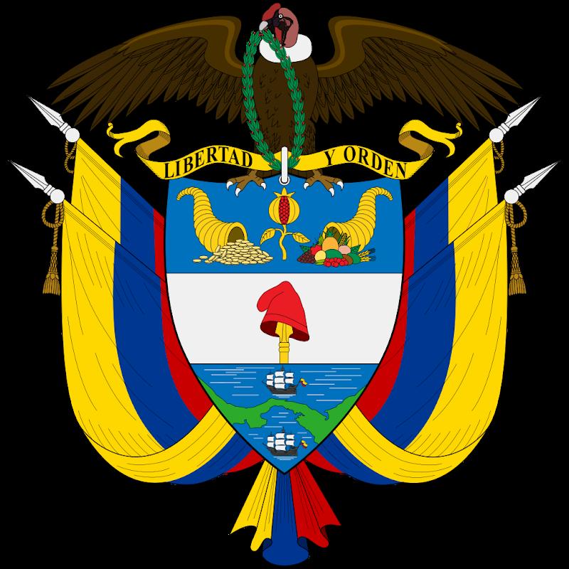 Logo Gambar Lambang Simbol Negara Kolombia PNG JPG ukuran 800 px