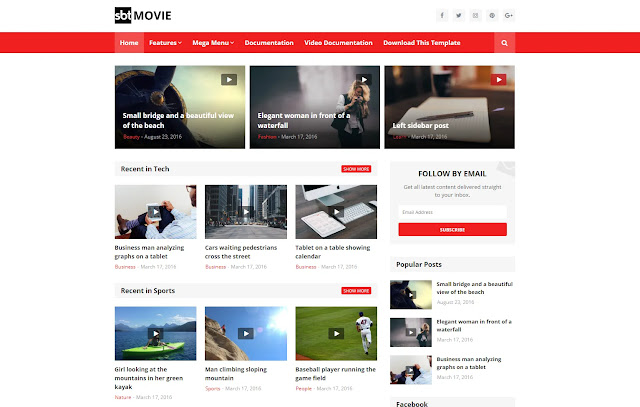 SBT Movie Responsive Download Blog Movie Media Informations Blogger Template Theme