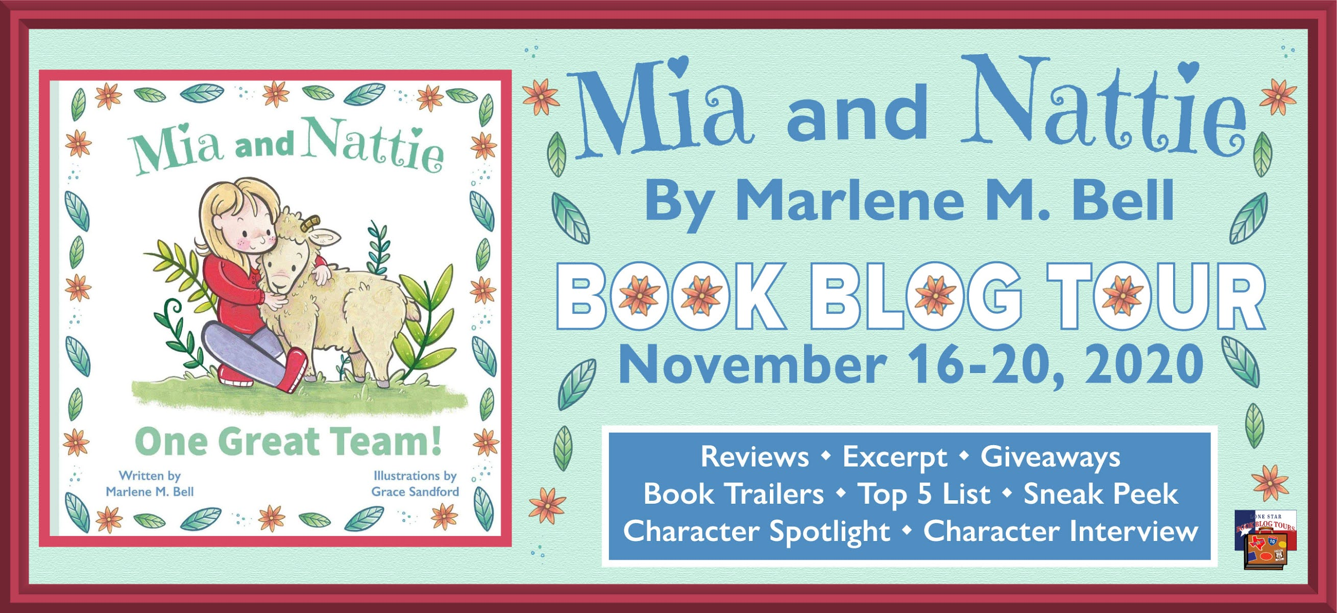 Mia and Nattie book blog tour promotion banner