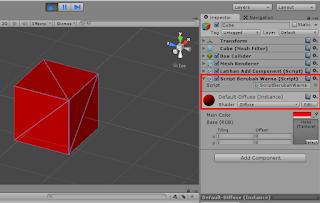 Program C# Unity  : Materi 11 - AddComponent
