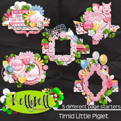 Timid Little Piglet Page Starters