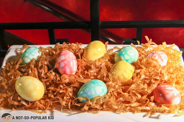 Colored eggs for Easter - Buddha Bar Manila