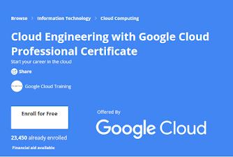 free Coursera certification for Google Cloud DevOps