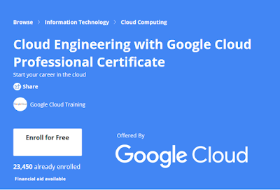 free Coursera certification for Google Cloud DevOps