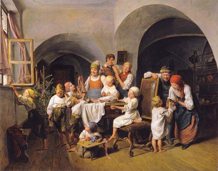 Cena familiar matutina, Ferdinand Georg Waldmüller (1793 – 1865)