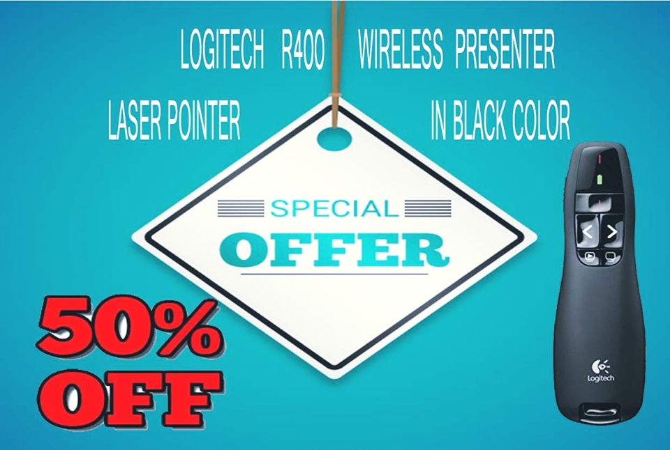 083257b66b4 LOGITECH R400 WIRELESS PRESENTER LASER POINTER IN BLACK COLOR.  Fashionothon- fashionothon is best and very good shopping site in India,day  by day this site ...