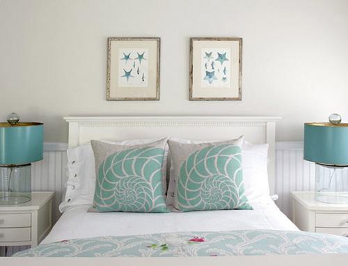 outstanding beach style bedroom ideas | Dormitorios en color turquesa y blanco | Ideas para ...