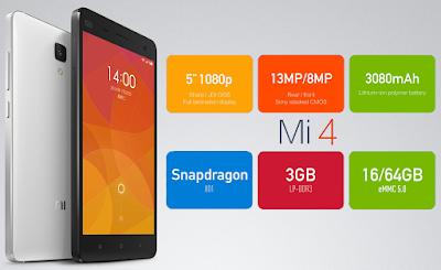 Xiaomi Mi 4 LTE Specifications - Inetversal