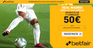 betfair supercuota liga Real Madrid gana Valladolid 26 enero 2020