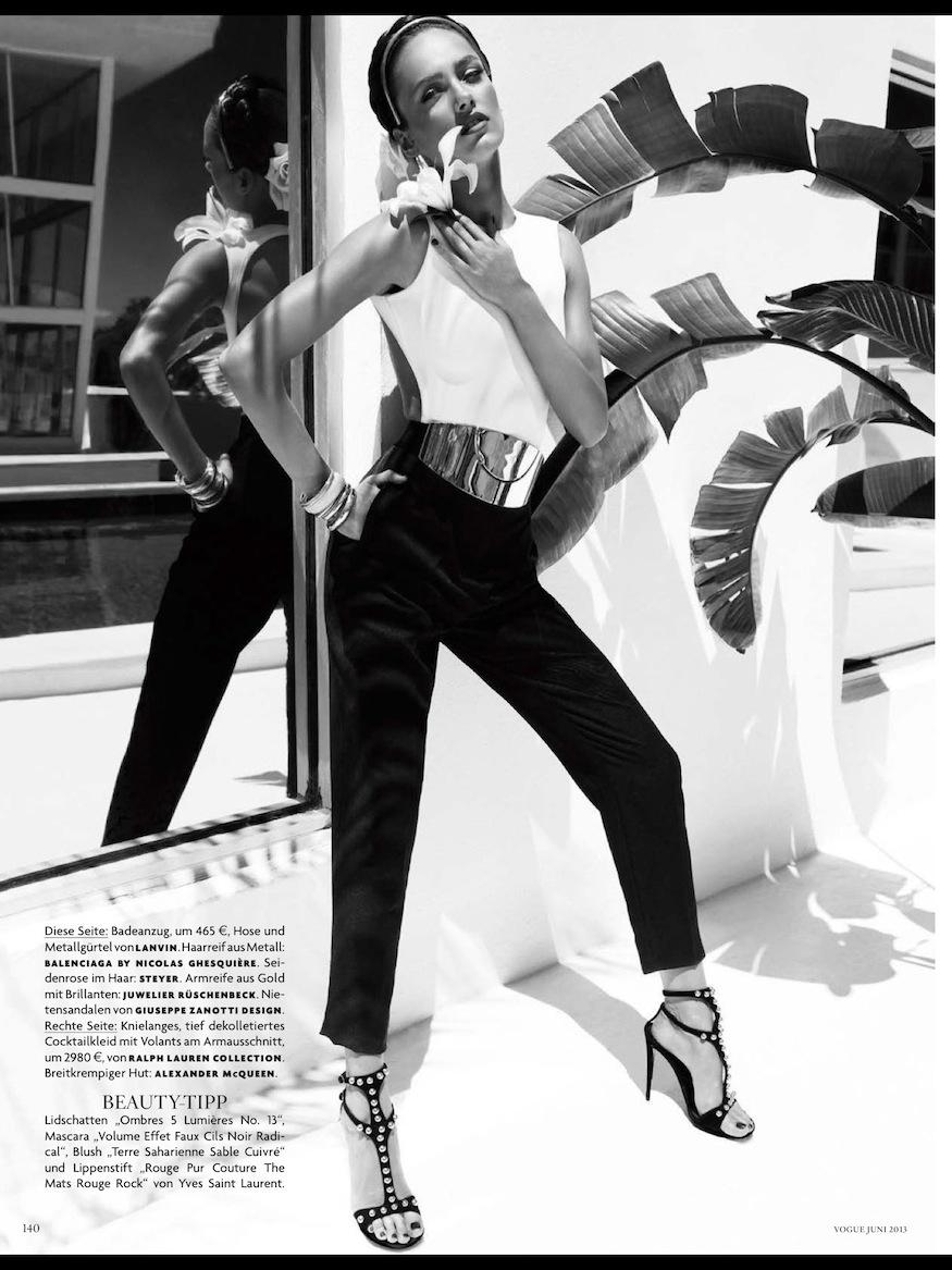 Vogue Germany June 2013: Karmen Pedaru by Alexi Lubomirski
