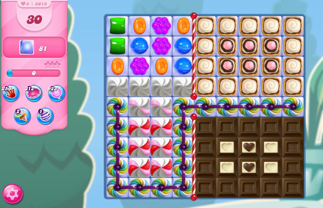 Candy Crush Saga level 8018