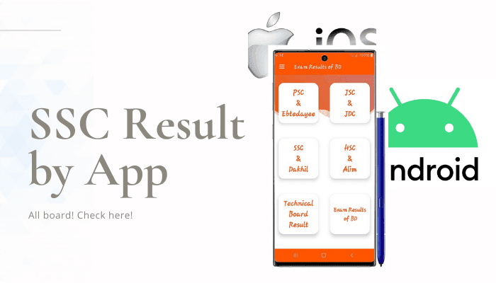 SSC Result 2020 by App, SSC Result 2020 Android by App, SSC Result 2020 by iOS App