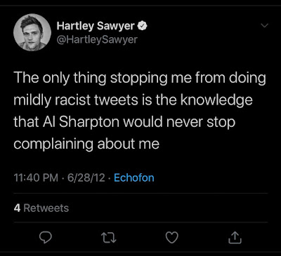 image result for harley sawyer racist tweets about al shapton