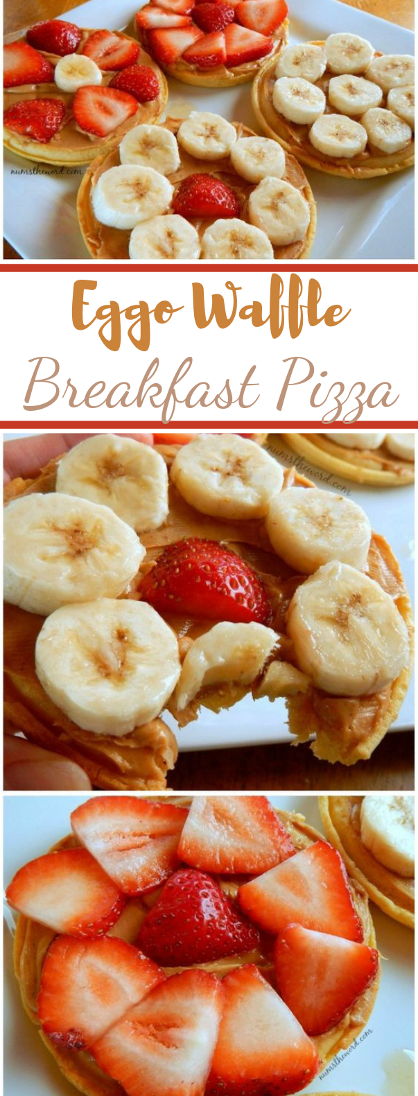 Eggo Waffle Breakfast Pizza #healthy #breakfast