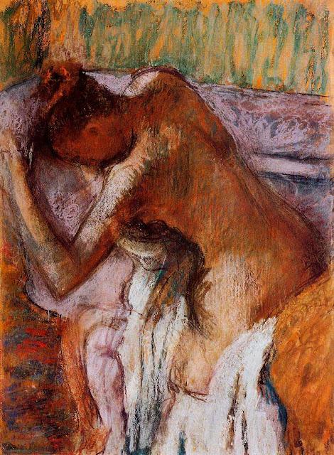 Эдгар Дега - После купания (1900-1910)