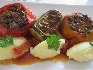 Colorful stuffed vegetables