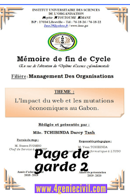 exemple de modele pages de garde pour mémoire word doc algerie