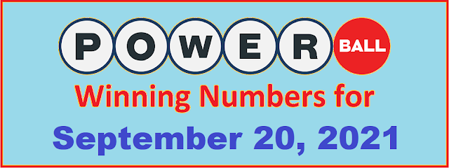 PowerBall Winning Numbers for Monday, September 20, 2021