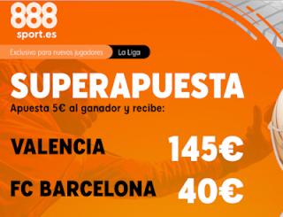888sport superapuesta liga Valencia vs Barcelona 25 enero 2020