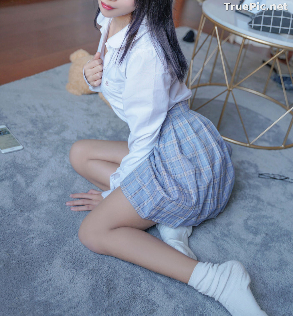 Image [MTCos] 喵糖映画 Vol.047 – Chinese Cute Model – Sexy Student Uniform - TruePic.net - Picture-23