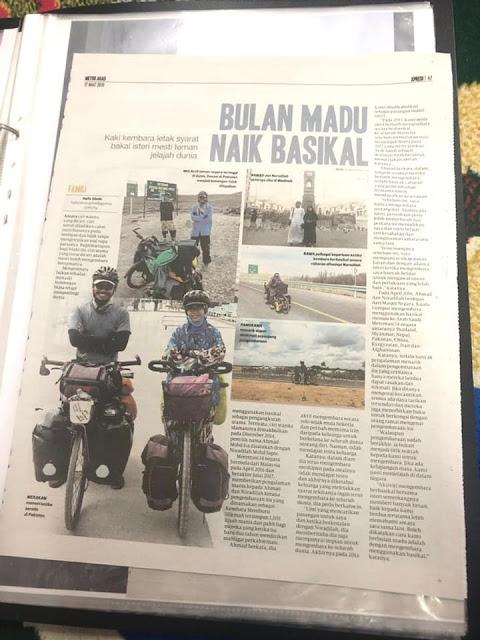 Kisah Penggembaraan luar biasa pasangan suami isteri ke Mekah dengan hanya menaiki basikal