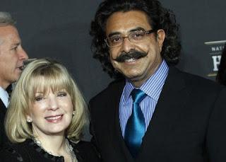 Ann Carlson Khan with her husband Shahid Khan