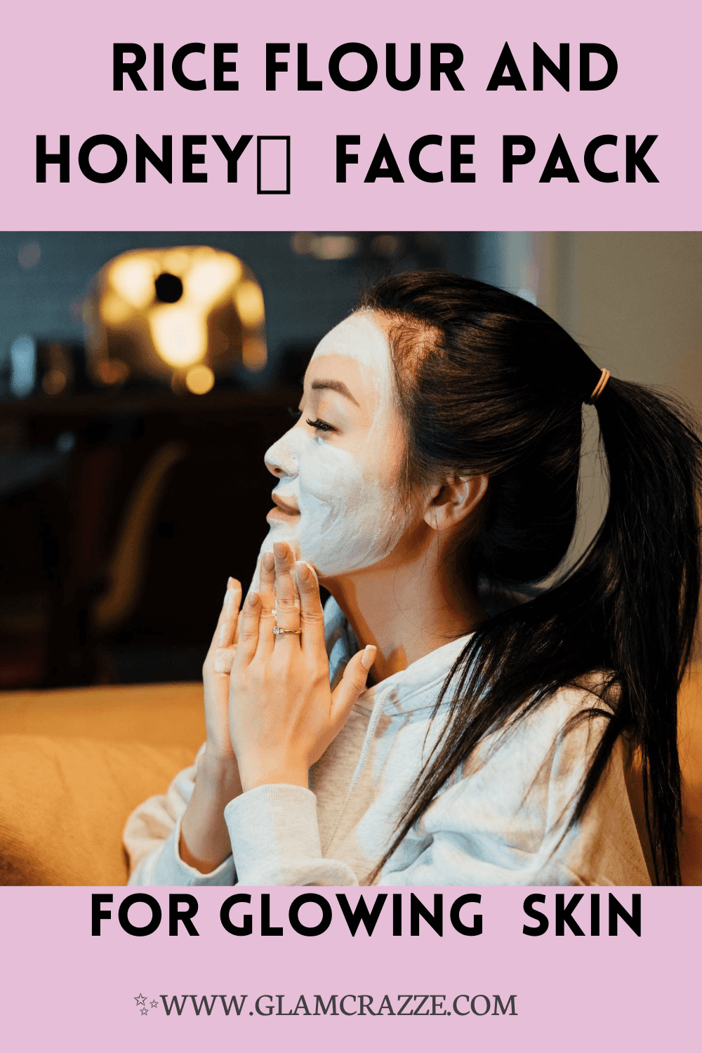 How to make rice flour face pack for bright skin