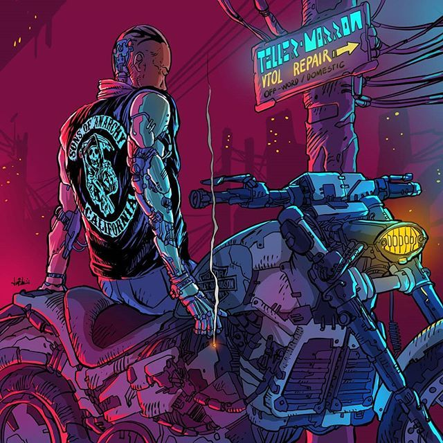 Cyberpunk SAMCRO - Artist Unknown