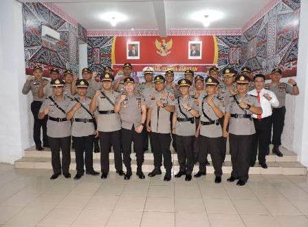 Kapolres Nugroho Pimpin Sertijab di Aula Wira Satya Mapolres Asahan
