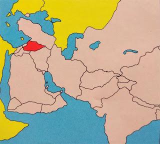 Gambar Peta letak negara Suriah