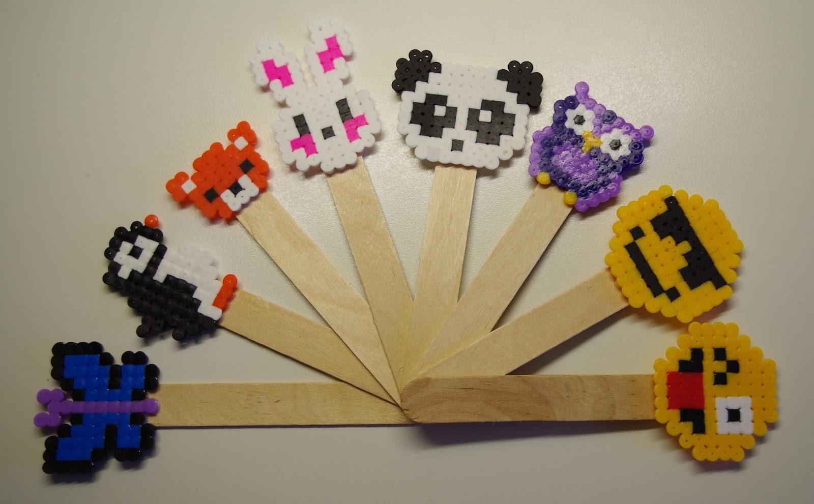 Rosa creazioni segnalibri con le hama beads della pyssla ikea - Porta phon ikea ...