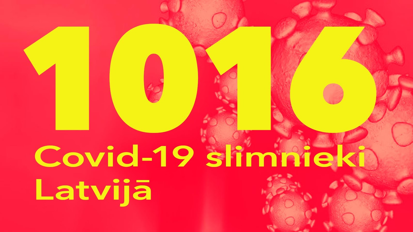 Koronavīrusa saslimušo skaits Latvijā 20.05.2020.
