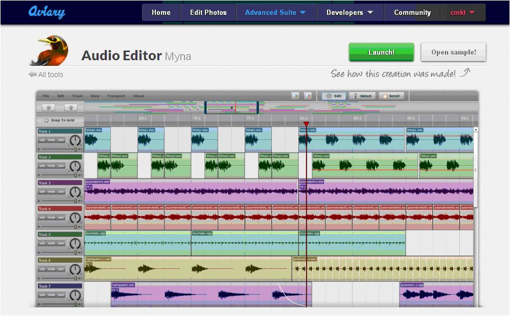 audio editor myna