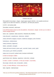 chinese new year lexical field
