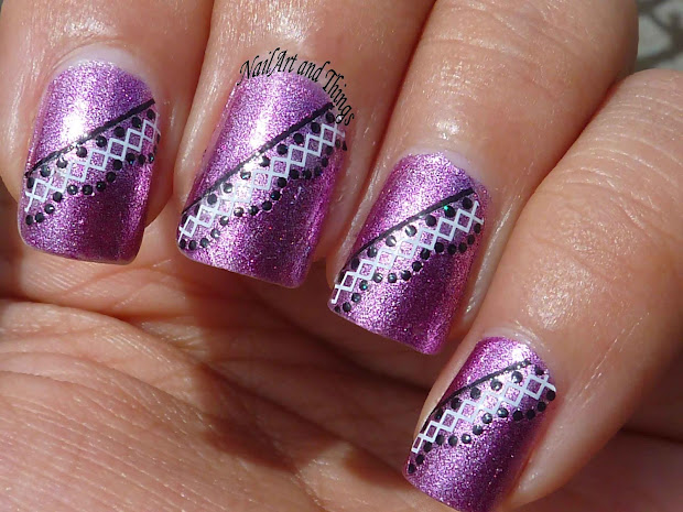 Nailart And Lacey Sticker Nail Art