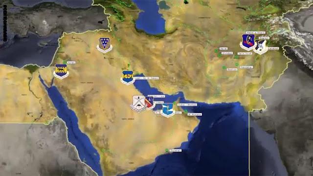 نبذة سريعة عن حجم القوة الجوية الأمريكية بالشرق الأوسط