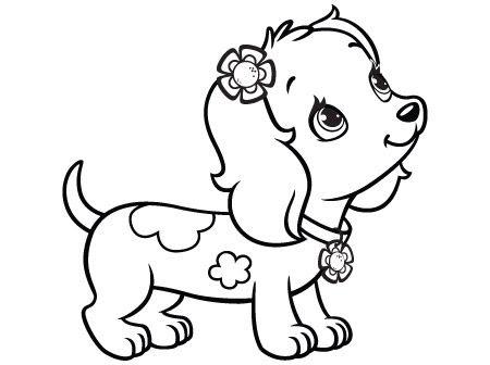 Hình tô màu con chó dễ thương
