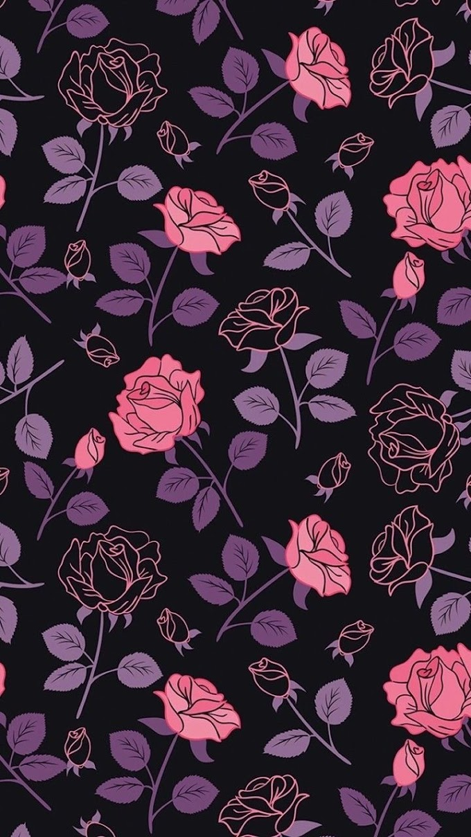 Flores Rosas Papel De Parede Para Celular