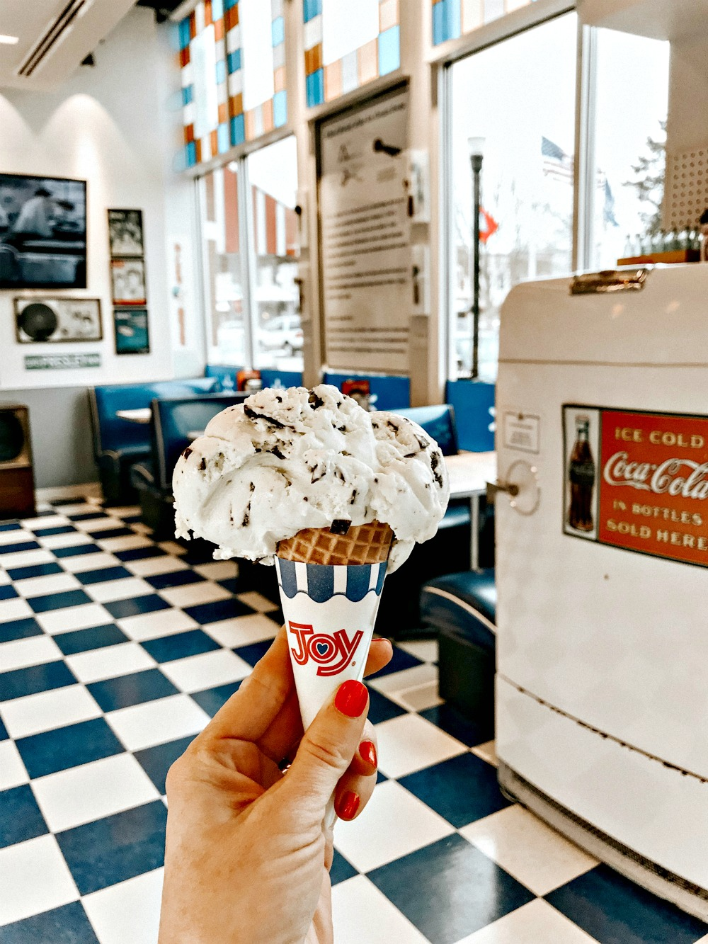 ice cream cone at 50's diner