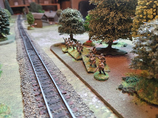 Soviet infantry in the tree line