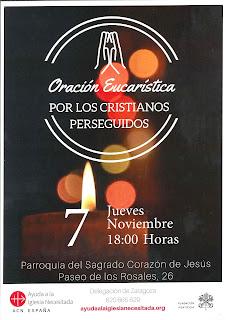 Jueves, 7-XI-19, Oración por los cristianos perseguidos en Ucrania