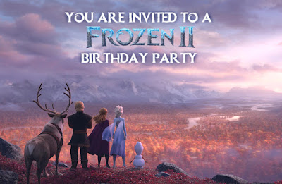 frozen 2 party invitations