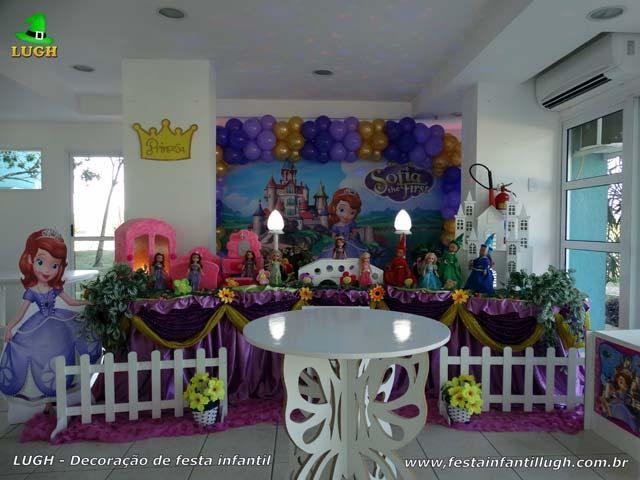 Decoração luxo Princesinha Sofia para festa de aniversário infantil - Barra - RJ