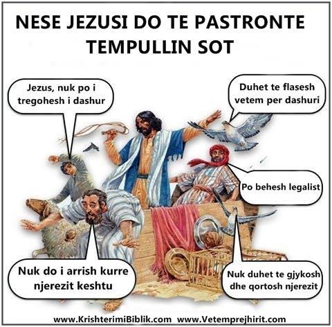 Pastrimi i tempullit nga Jezusi