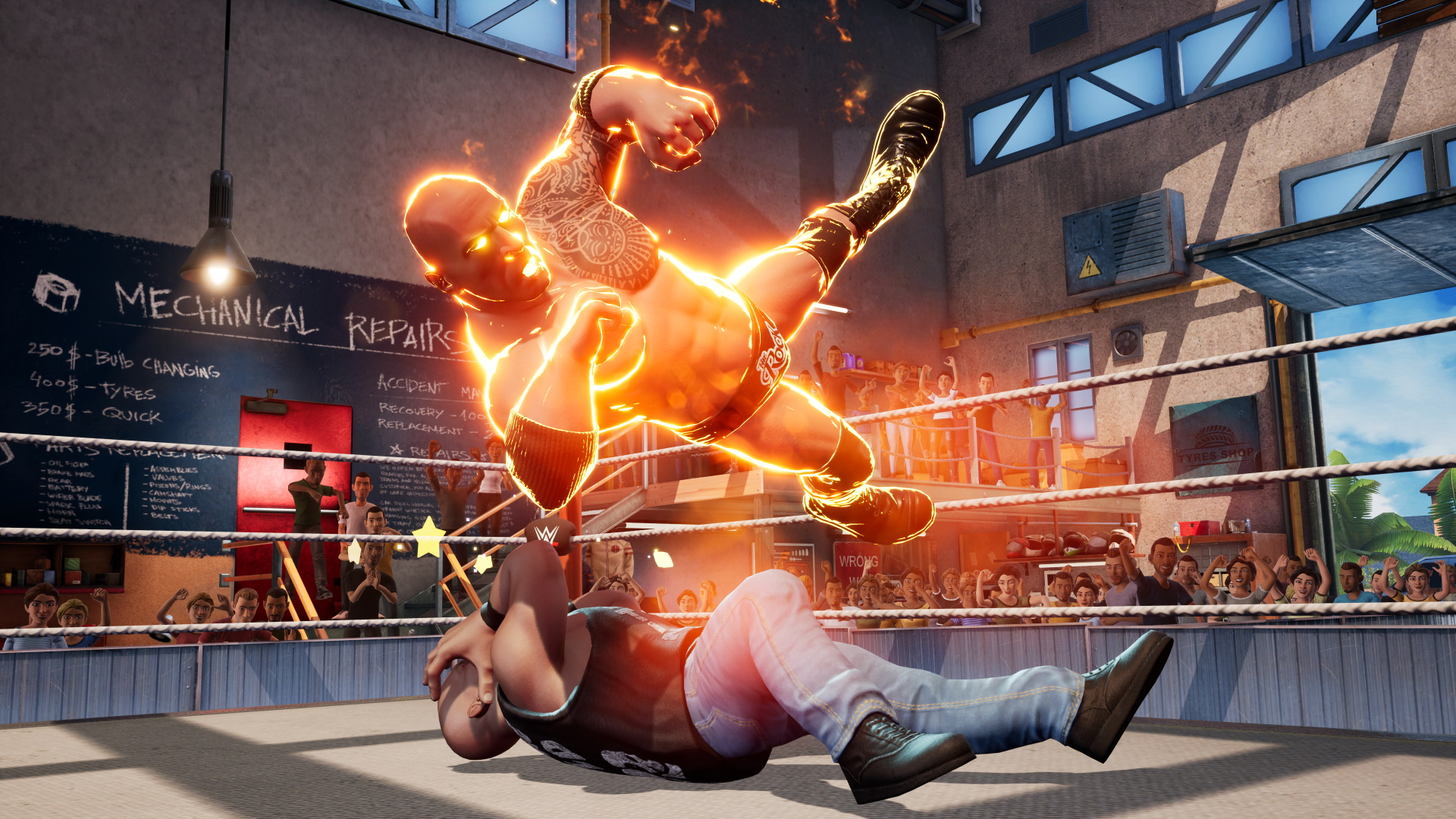 The Rock and Stone Cold Steve Austin on WWE 2K Battlegrounds