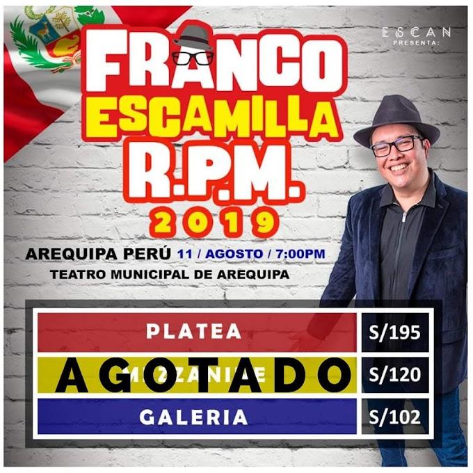 Franco Escamilla en Arequipa - 11 de agosto
