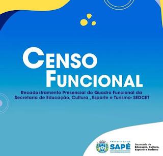 Sapé em tempos de pandemia prefeitura promove censo dos servidores,  sem medidas de segurança e com aglomeração.